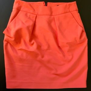 Skirt short Zara XS orange bright pockets